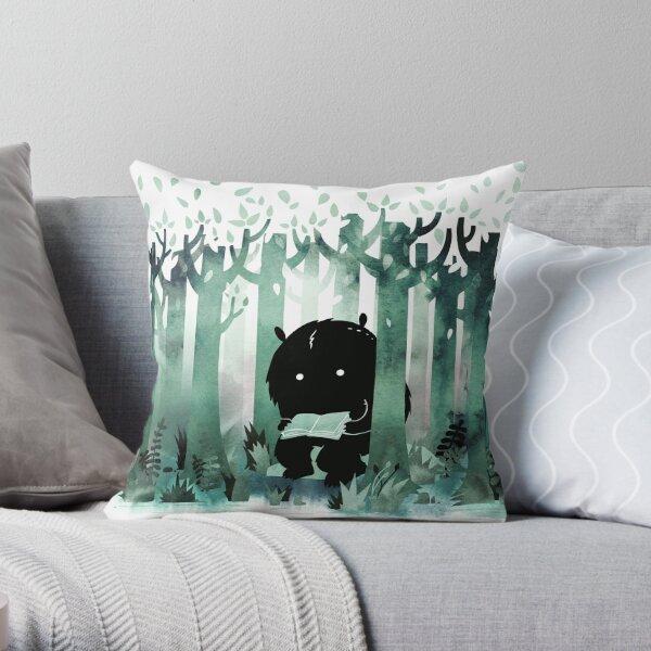 A Quiet Spot in Green Throw Pillow