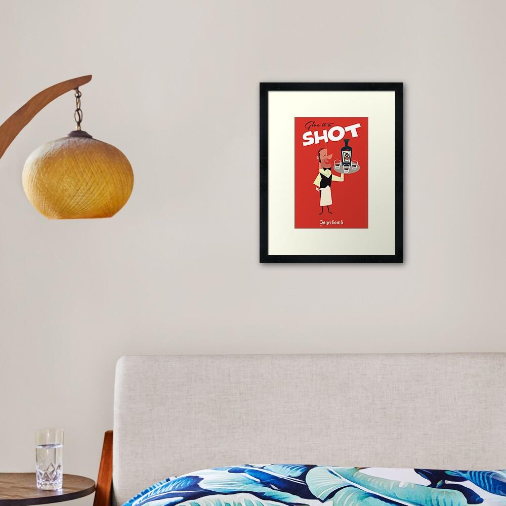 Give it a Shot poster Framed Art Print
