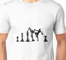 Kickboxing Chess Knee Black  Unisex T-Shirt