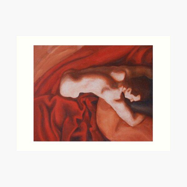 Red and White - Rebirth Art Print