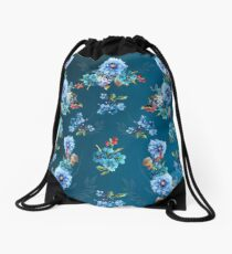 Cornflower Blues in Watercolor Drawstring Bag