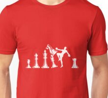 Kickboxing Chess Knee White  Unisex T-Shirt