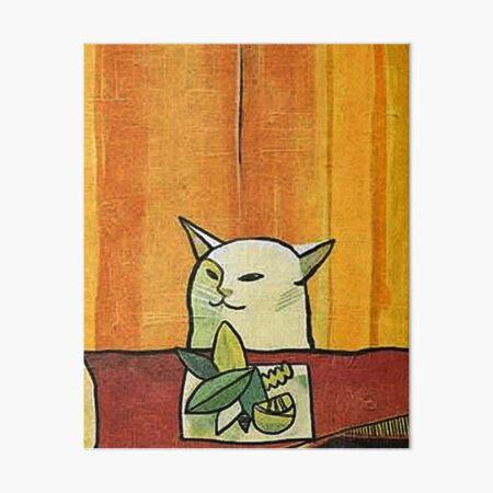 Picasso Cat Meme Paint Art Board Print