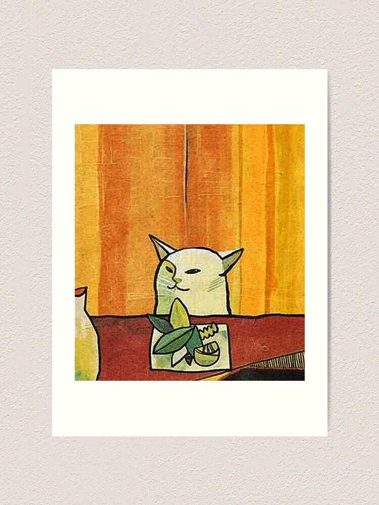 Alternate view of Picasso Cat Meme Paint Art Print