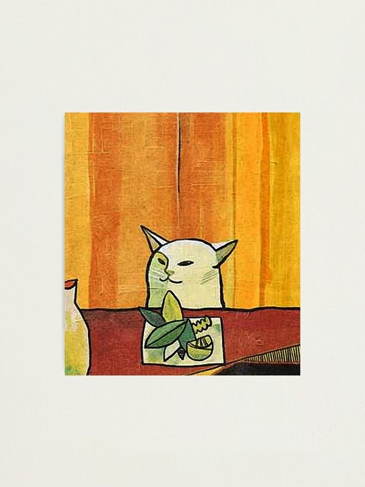 Alternate view of Picasso Cat Meme Paint Photographic Print