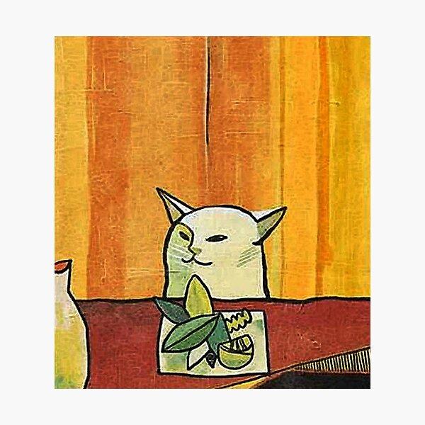 Picasso Cat Meme Paint Photographic Print