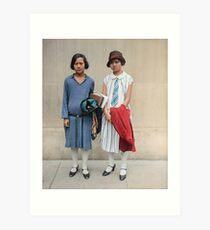 Two fashionable women in Washington D.C. 1927 Art Print