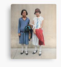 Two fashionable women in Washington D.C. 1927 Metal Print
