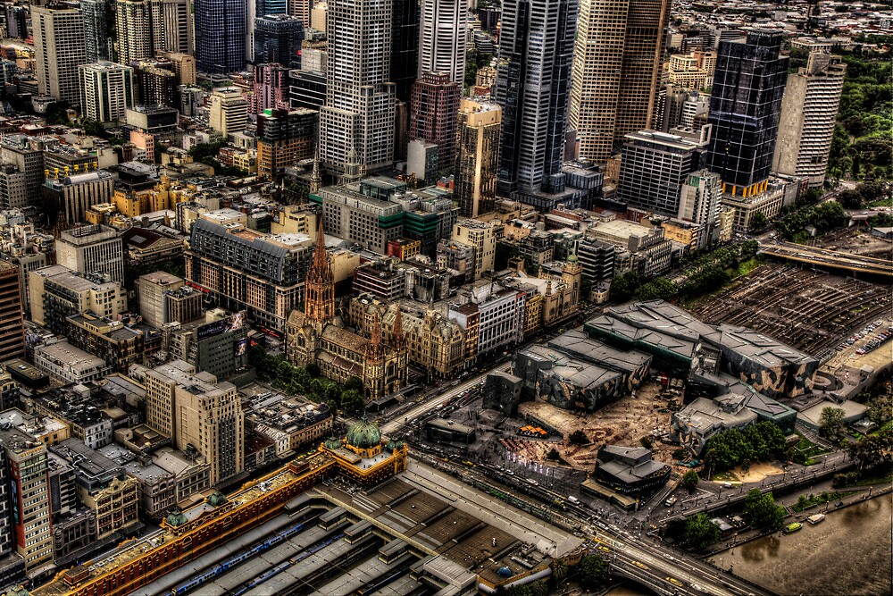 Melbourne at work by pdra