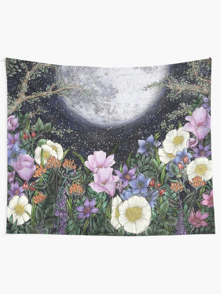 Alternate view of Midnight in the Garden II Tapestry