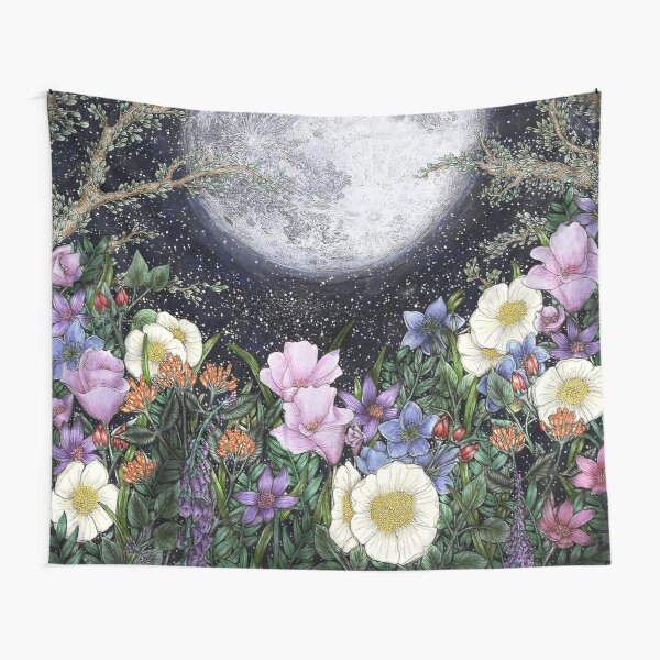 Midnight in the Garden II Tapestry