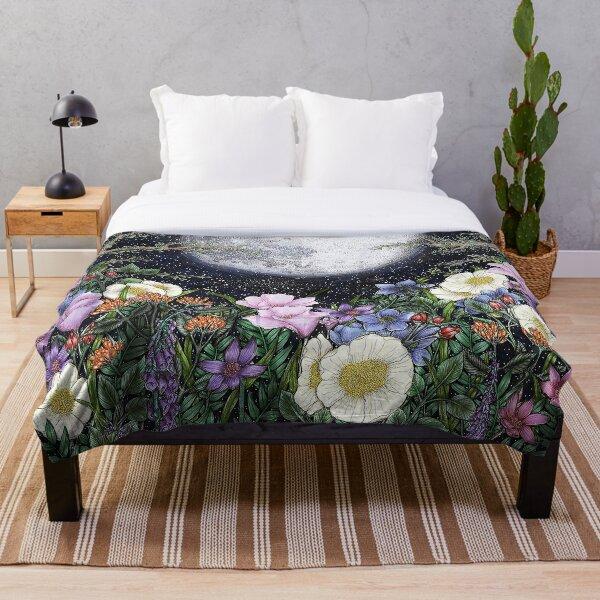 Midnight in the Garden II Throw Blanket