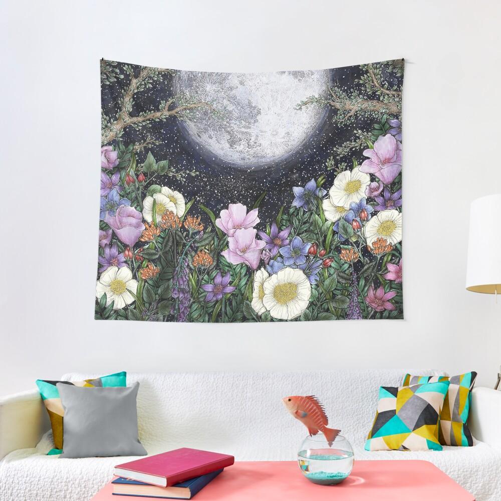 Midnight in the Garden II Tapestry