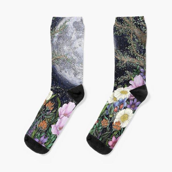 Midnight in the Garden II Socks