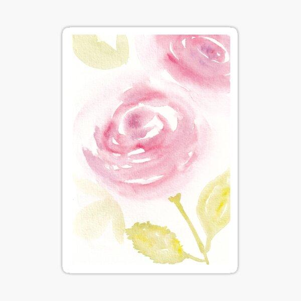 Wild Rose Watercolour Design Sticker