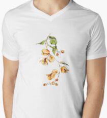 Sunset Vibes Bougainvillea  V-Neck T-Shirt
