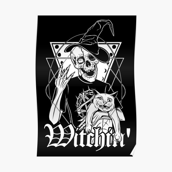 Witchin' - Terry the Ghoul and his cat Frankie doing witchhcraft! Poster