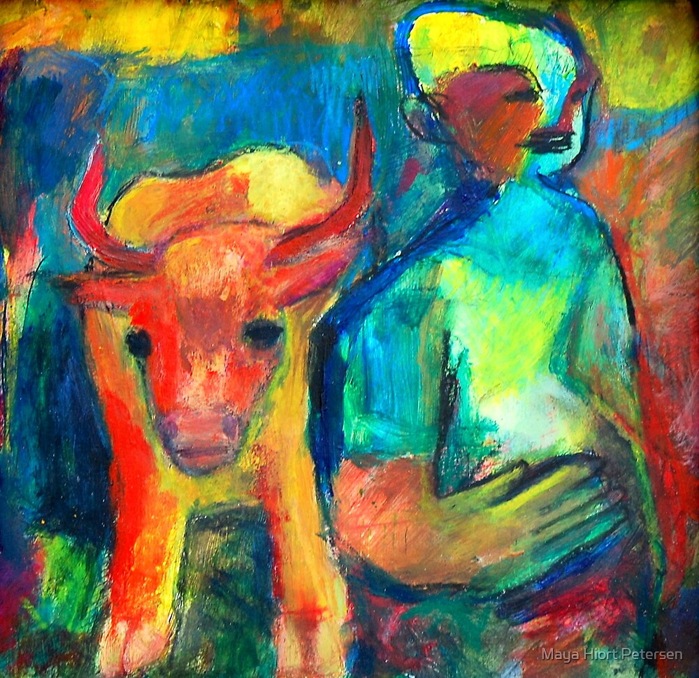 The Boy and The Cow by Maya Hiort Petersen