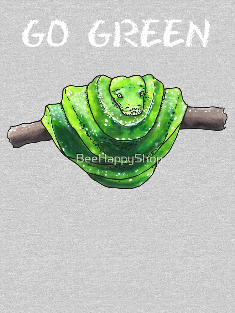 Green Python - Animal series by BeeHappyShop