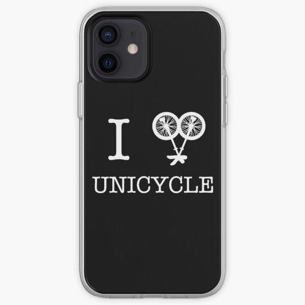 I (love) unicycle - black iPhone Soft Case