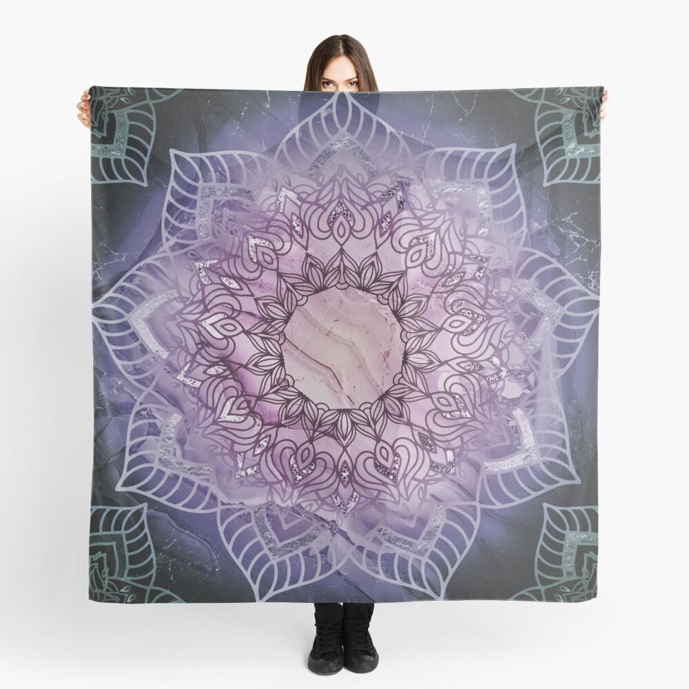 Stylish Mandala in Teal and Purple Scarf