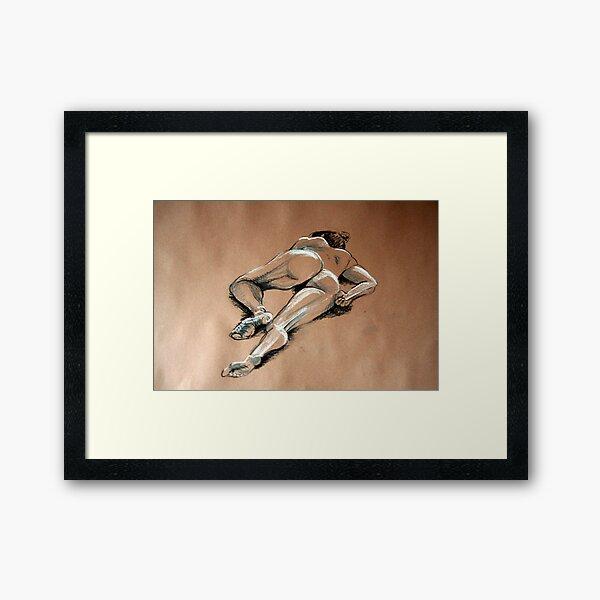 Reclining female nude #1 Framed Art Print