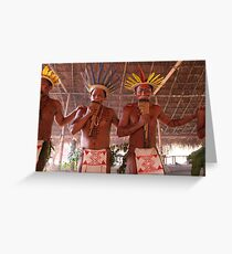 Amazon Negro River Indians Ritual Greeting Card