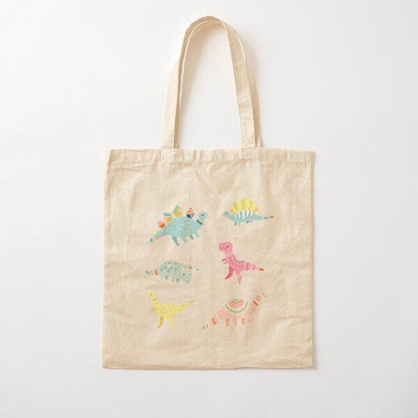 Dinosaur Pattern Cotton Tote Bag