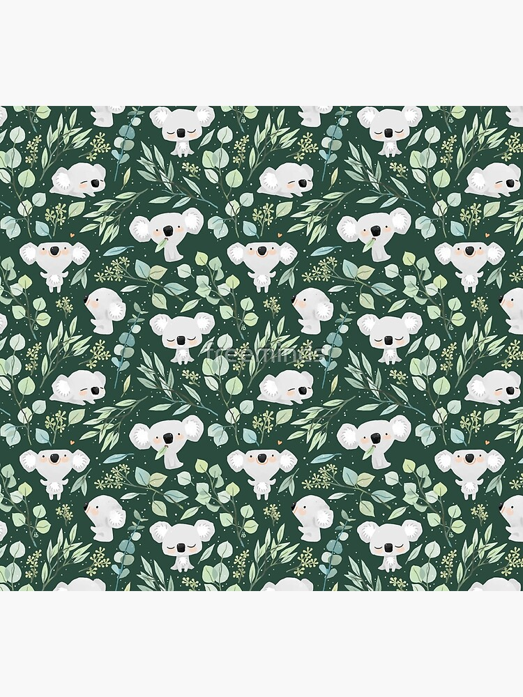 Koala and Eucalyptus Pattern by freeminds