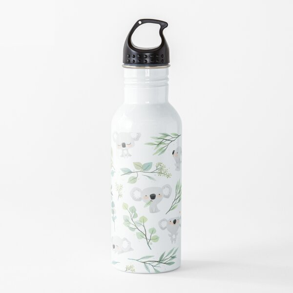 Koala and Eucalyptus Pattern Water Bottle