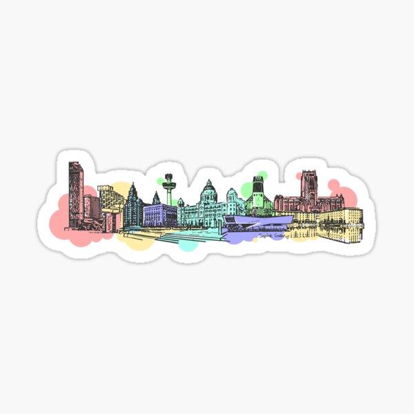 Liverpool Waterfront Sticker