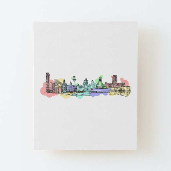 Liverpool Waterfront Wood Mounted Print