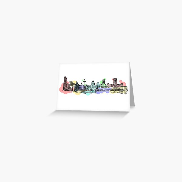 Liverpool Waterfront Greeting Card