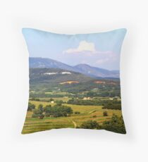 Landscape seen from Roussillon, France Throw Pillow