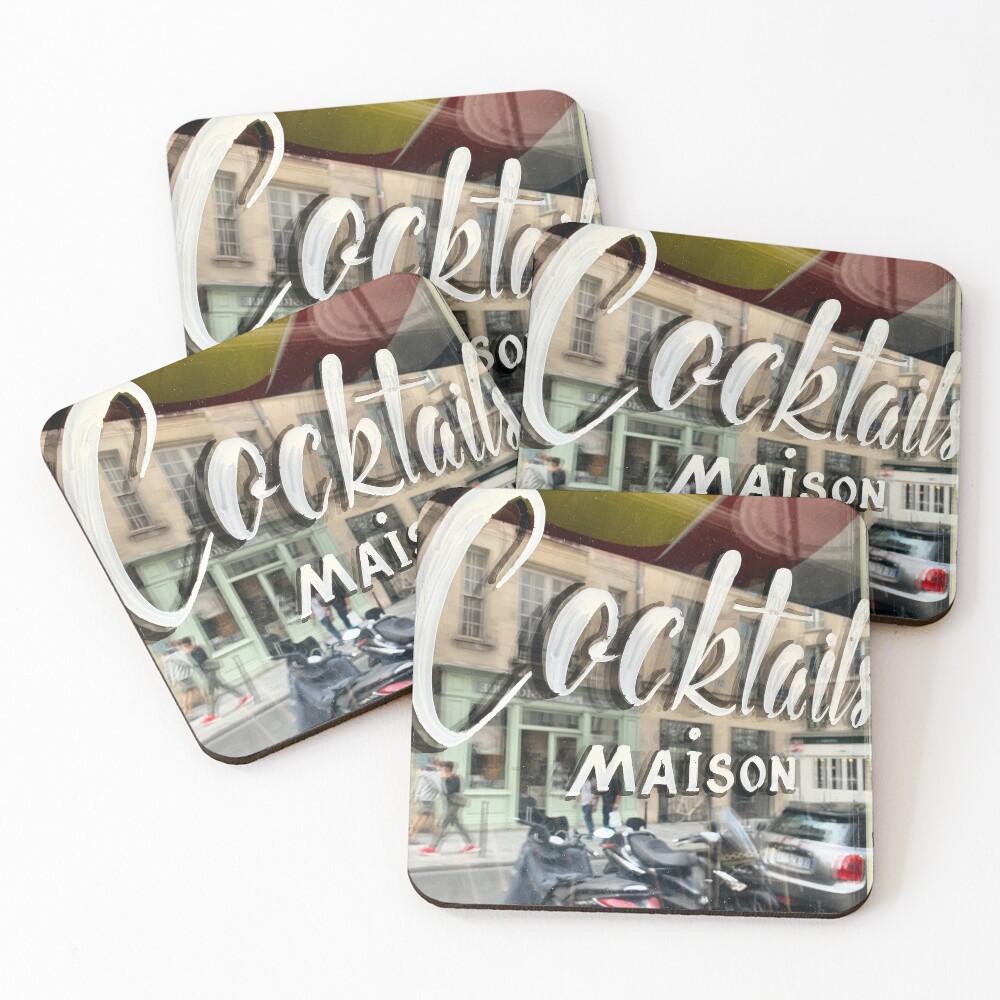Paris Cafe: Cocktails Maison Coasters (Set of 4)