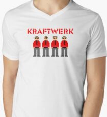 Kraftwerk 8-bit Men's V-Neck T-Shirt