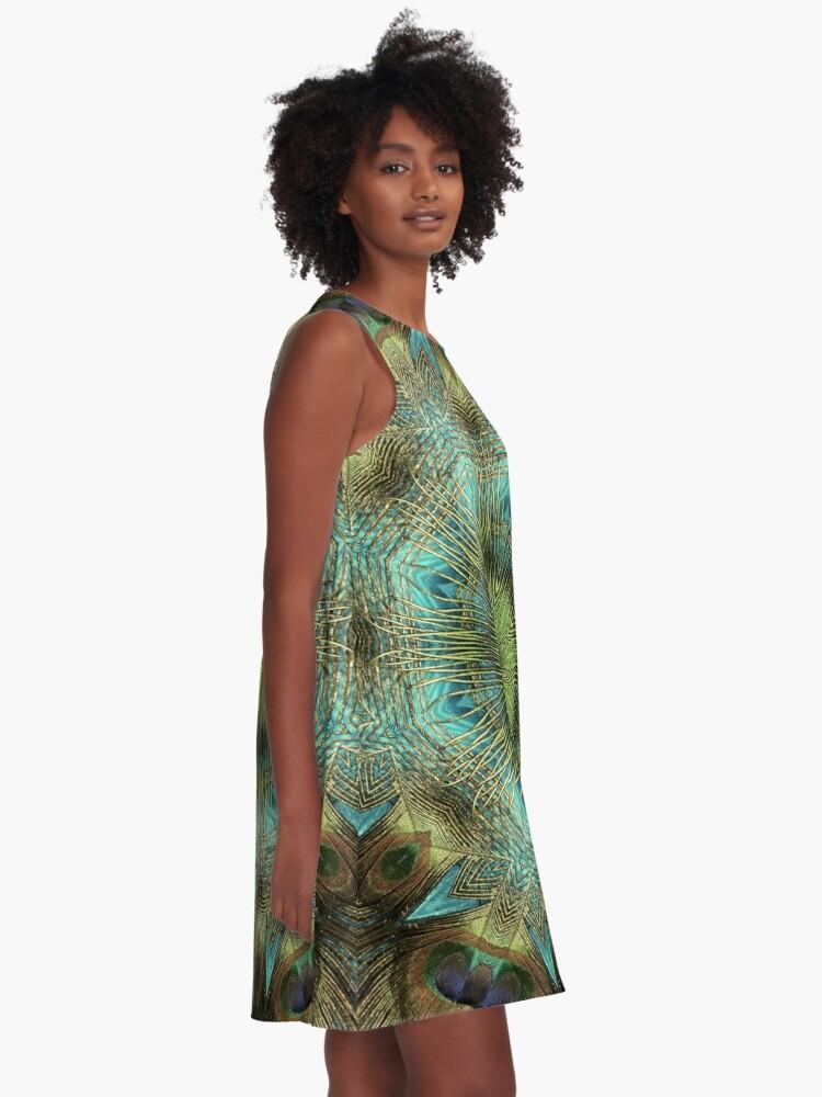 Alternate view of Mandala Of Peacock Eyes A-Line Dress