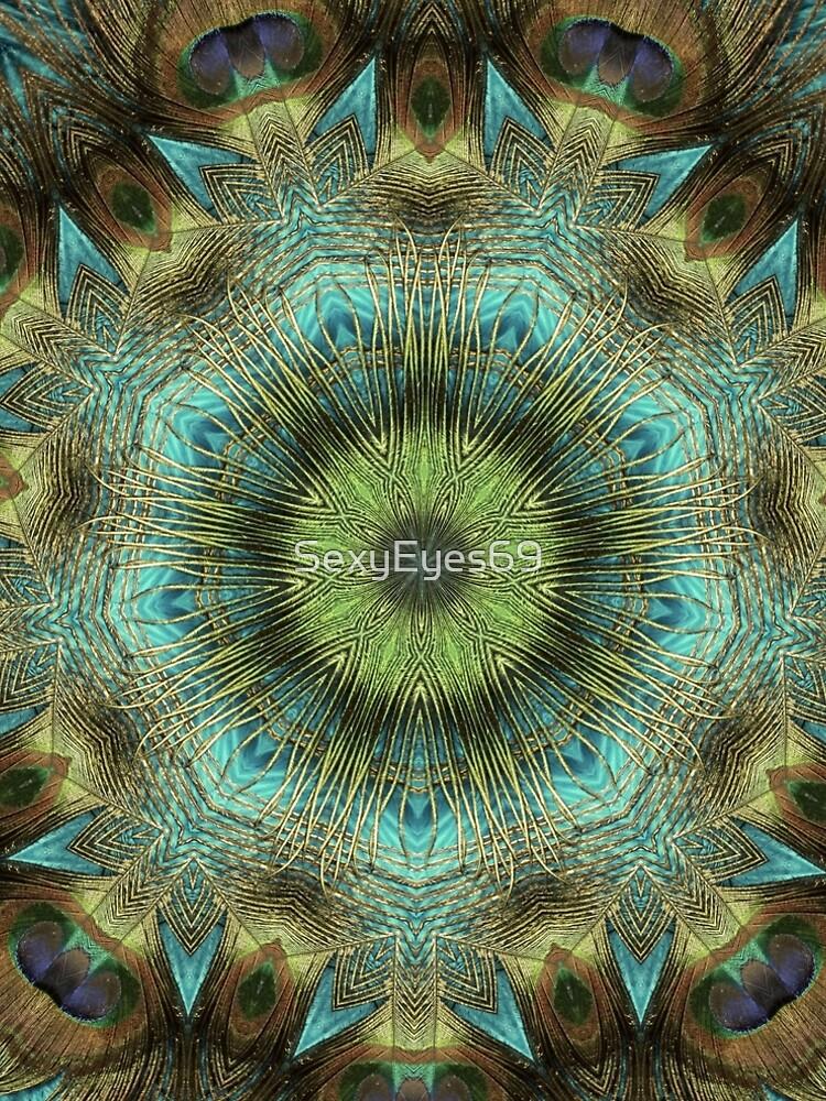 Mandala Of Peacock Eyes by SexyEyes69