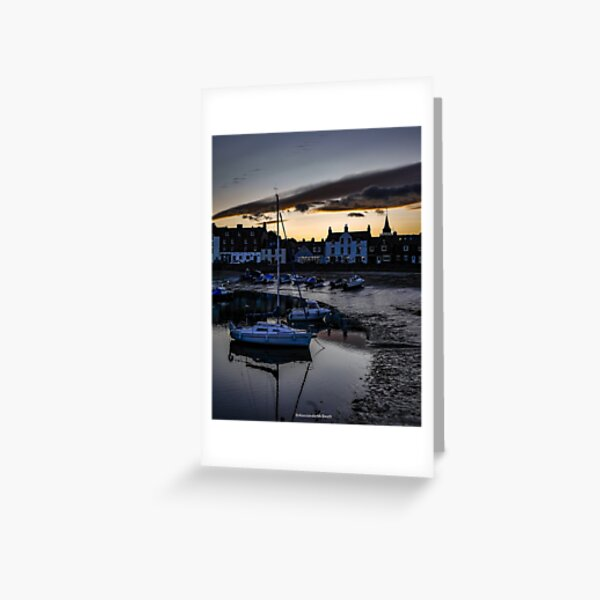 Stonehaven Harbour Sunset Greeting Card