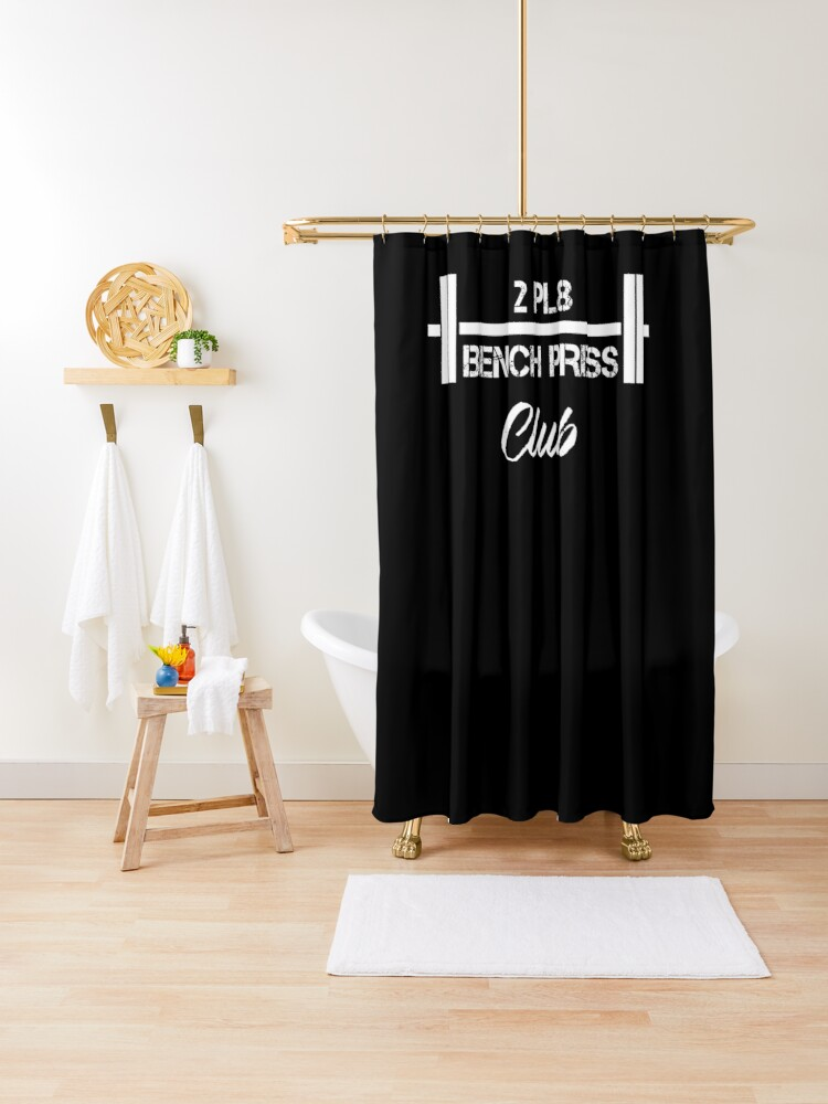 Marvelous Two Plate Bench Press 2Pl8 Club Weight Lifting Shower Curtain Bralicious Painted Fabric Chair Ideas Braliciousco