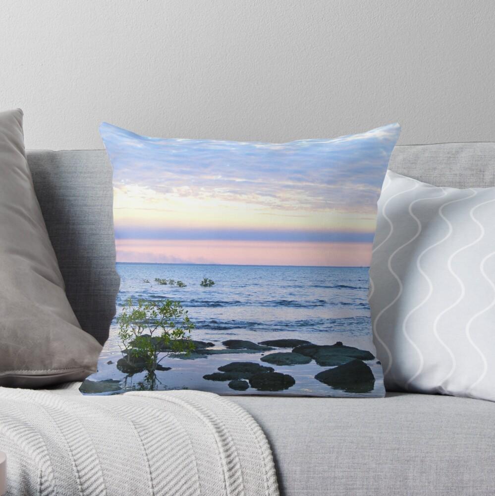 Nightcliff Sunset Throw Pillow