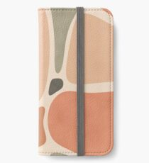Terracotta Shapes #redbubble #abstractart iPhone Wallet/Case/Skin