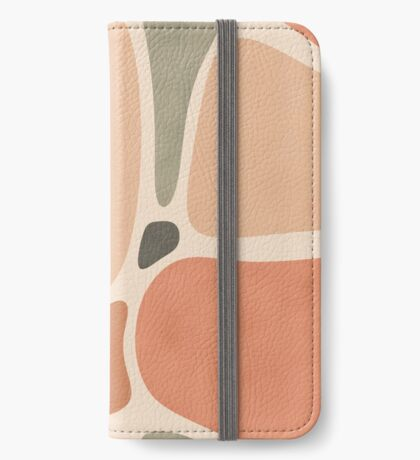 Terracotta Shapes #redbubble #abstractart iPhone Wallet