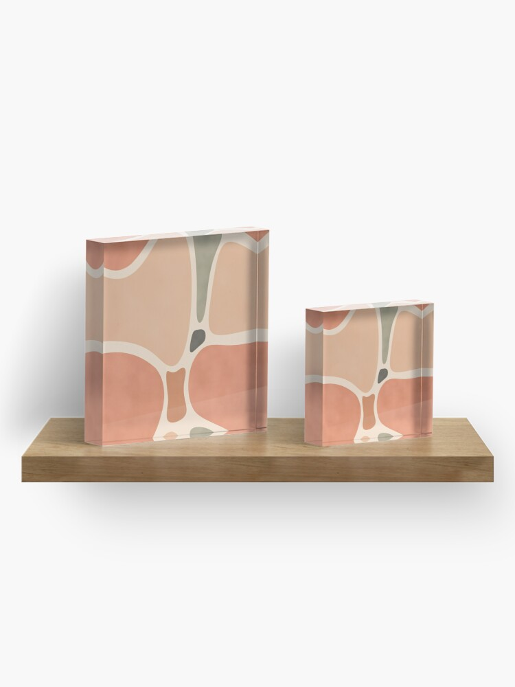 Alternate view of Terracotta Shapes #redbubble #abstractart Acrylic Block