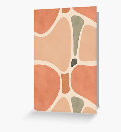 Terracotta Shapes #redbubble #abstractart Greeting Card
