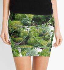 Scottish Summer Leaves And Flowers Mini Skirt