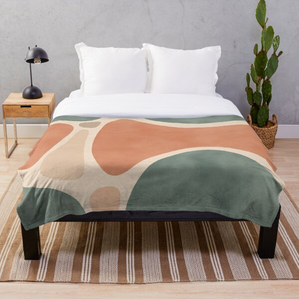 Earth Tones Shapes Throw Blanket