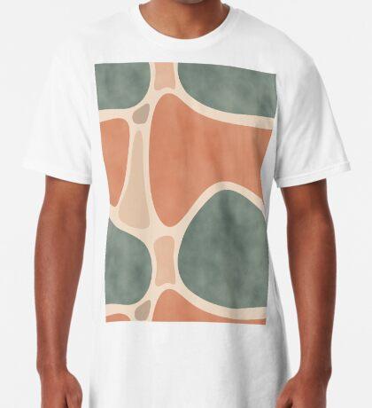 Earth Tones Shapes #redbubble #abstractart Long T-Shirt