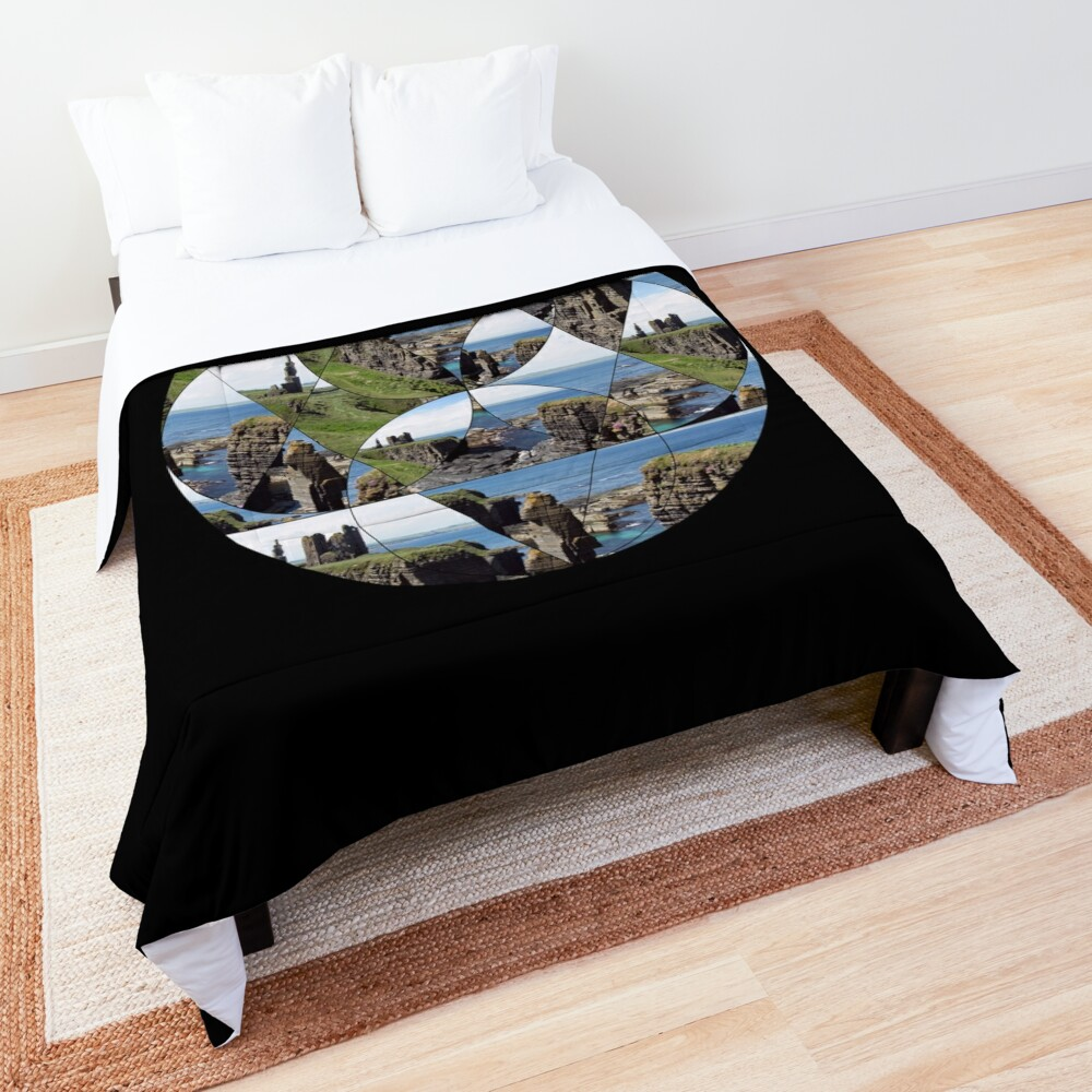 Fractured Castle and Seastack Comforter