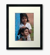 cute kids Framed Print